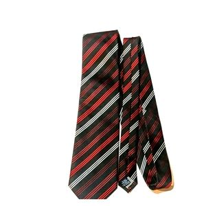 Red, white and black striped Stafford tie